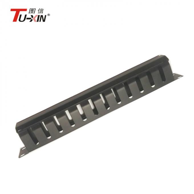 1U&12 port rack mount metal network cable management