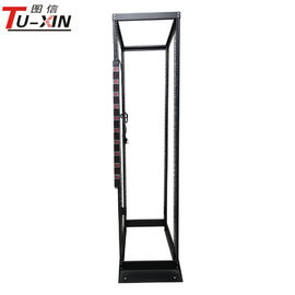 China Double Open Frame Server Rack 4 Post 42U Radiation Protection High Standard 19 Inch supplier