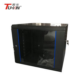 China High Capacity 19 Inch Wall Mount Switch Rack , Wall Mount Rack Enclosure Cabinet supplier