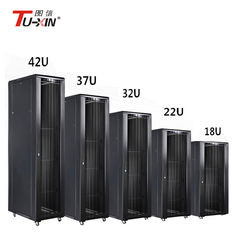 China Full Size Computer 1000mm Server Rack , Data Center Floor Standing Comms Cabinet supplier