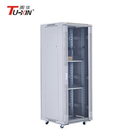 China 19 Inch 32u Standing Network Cabinet Office Server Rack With Cooling Fans On Wheels supplier