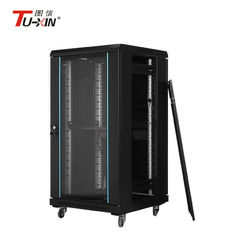 China Indoor Floor Standing Comms Cabinet , Commercial Network Secure Server Cabinet supplier