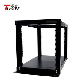 China Adjustable 4 Post Open Frame Server Rack Cabinet 12U IP20 Protection Corrosion Resistance supplier