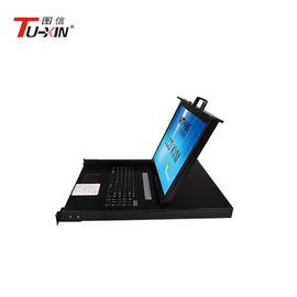 China 19 Inch LCD KVM Drawer With 8 Port LCD VGA KVM Switch Metal Steel Casing Housing supplier