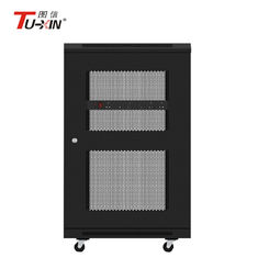 China 18U Mobile Server Rack 600 X 600mm  Powder Coating Surface Finish Adjustable Feet supplier