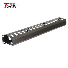China Custom 19 Inch Rack Accessories  Metal Rackmount Cable Management Panel supplier