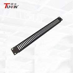 China 1u 2u 19 Inch Rack Mount Accessories Network Cabinet Brush Panel Blank Panel supplier