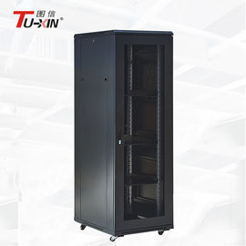 China Loading 500 Kg 19 Inch Rack Mount Cabinet , Commercial Floor Mount Server Rack factory