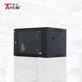 Indoor 6U Wall Mount Network Cabinet Double Section 600 X 600mm Dustproof