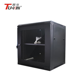 Dustproof Wall Mount Network Rack , Small Capacity Mini Server Rack Cabinet