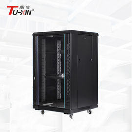 China Half Height Computer Server Rack , Floor Standing Server Rack Enclosure Good Heat Dissipation factory