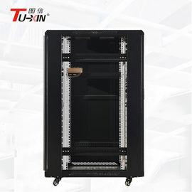China Indoor 22U Computer Rack Cabinet , Floor Standing Network Rack Radiation Protection factory