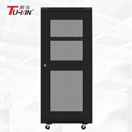 China High Standard Standing Network Cabinet 19 Inch 27U Server Rack With Mesh Door factory