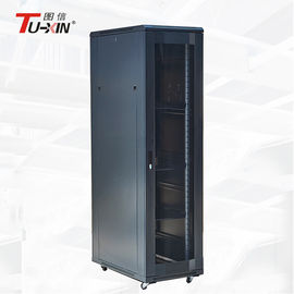Dustproof Computer Racks And Cabinets , 600mm Floor Mounted Data Cabinet
