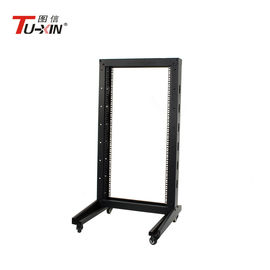 China Universal 22U 2 Post Open Frame Server Rack Impact Resistance For Most IT Environments factory
