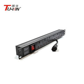 AUS pdu 15a 250v 7 ways outlet metered function network cabinet pdu  TUXIN