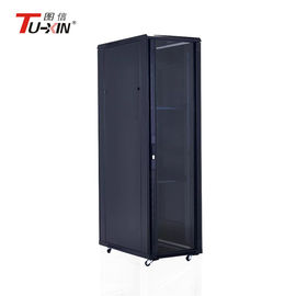 China Universal Computer Server Rack 5mm Tempered Glass Door Bearing Capacity 800kg factory