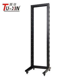 China 19 Inch Open Frame Rack Cabinet , Computer 27u Two Post Network Rack factory