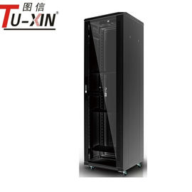 China Height 42u 19 Inch Server Rack Network Equipment Cabinet With Glass Door factory