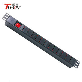 China 19 Inch 6 Ways Server Rack Power Strip Italy Type PDU Socket With Mini Circuit Breaker factory
