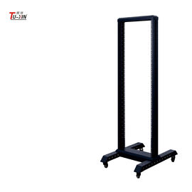 China 19'' Open Rack Cabinet 18U Open Frame Server Rack 2 Post 600/800mm Width factory