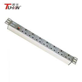 China P16AWG Industrial PDU Electrical Rack Power Strip 7 Way UK 19 Inch Rack PDU factory