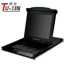 China Professional 17 Inch LCD KVM Drawer 1 Port PS2 Or USB Rackmount KVM Console factory